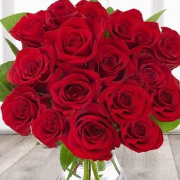 Red roses 40 cm (select the number of flowers)