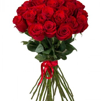 Red roses 60 cm (select number of flowers)
