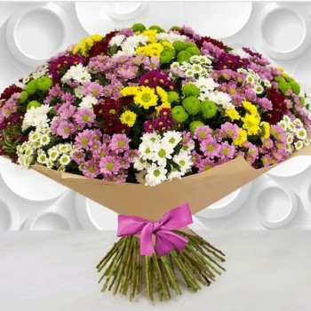 Large, different colors 51 chrysanthemum bouquet | Flower delivery